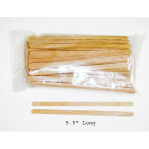 "Wax Applicator - Large-Thin .25"" x 5.5"" 100 Pack (917463003025)"