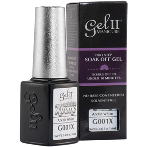 La Palm Gel II - Arctic Whtie No Base Coat Gel Polish - 2 Step System (G001X)