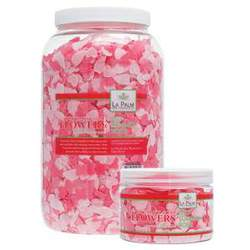 La Palm Bath Flowers - Rose - Dissolving Pedi Bath Soap 1 Gallon (0815432012800)