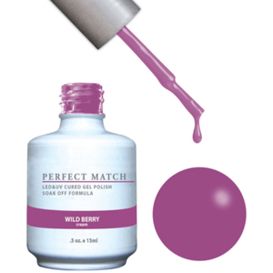 PERFECT MATCH - Soak Off Gel Polish + Lacquer - Wild Berry (PMS131)
