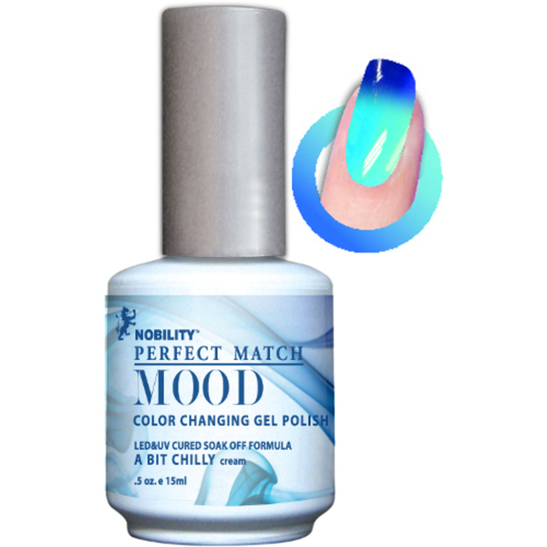 Mood Color Changing Soak Off Gel Polish - A Bit Chilly (MPMG05)