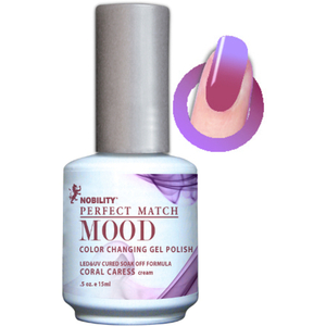Mood Color Changing Soak Off Gel Polish - Coral Caress (MPMG11)