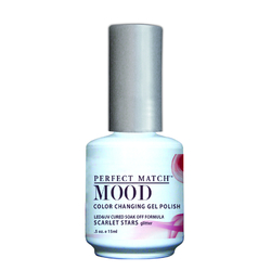 Mood Color Changing Soak Off Gel Polish - Scarlet Stars (MPMG13)