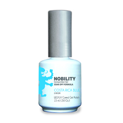 Nobility Color LEDUV Cured Gel Polish - Costa Rica Blue 0.5 oz (NBGP73)