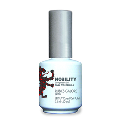 Nobility Color LEDUV Cured Gel Polish - Ruby Galore 0.5 oz (NBGP114)