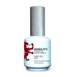 Nobility Color LEDUV Cured Gel Polish - Ruby Red 0.5 oz (NBGP107)