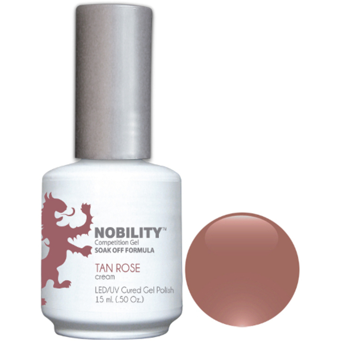 Nobility Color LEDUV Cured Gel Polish - Tan Rose 0.5 oz (NBGP12)