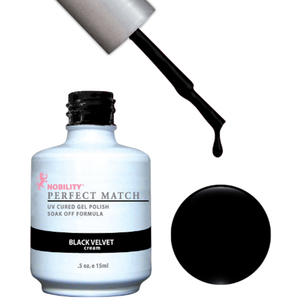 PERFECT MATCH - Soak Off Gel Polish + Lacquer - BLACK VELVET (PMS30)