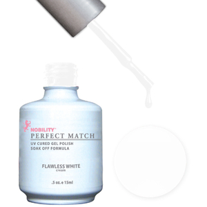 PERFECT MATCH - Soak Off Gel Polish + Lacquer - FLAWLESS WHITE (PMS07)