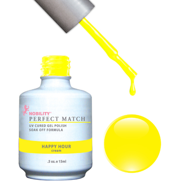 PERFECT MATCH - Soak Off Gel Polish + Lacquer - HAPPY HOUR (PMS39)