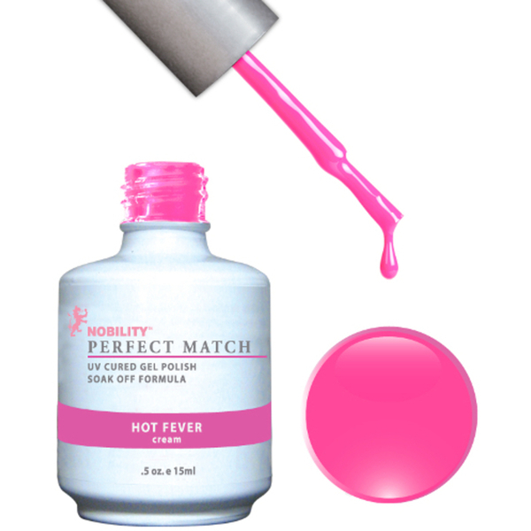 PERFECT MATCH - Soak Off Gel Polish + Lacquer - HOT FEVER (PMS44)