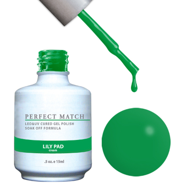 PERFECT MATCH - Soak Off Gel Polish + Lacquer - LILY PAD (PMS99)