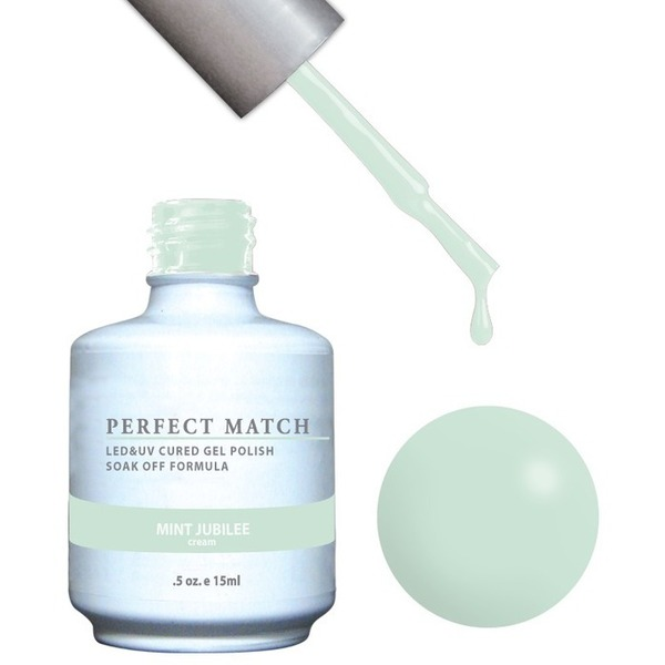PERFECT MATCH - Soak Off Gel Polish + Lacquer - MINT JUBILEE (PMS116)