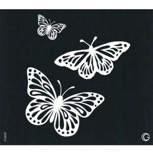 G Body Art - Essential Stencils - 2 Per Pack - Butterfly Trio ()