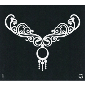 G Body Art - Essential Stencils - 2 Per Pack - Charm Necklace ()