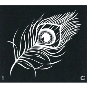 G Body Art - Essential Stencils - 2 Per Pack - Peacock Feather ()