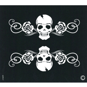 G Body Art - Essential Stencils - 2 Per Pack - Skulls & Roses ()