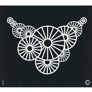 G Body Art - Essential Stencils - 2 Per Pack - Spiral Necklace ()