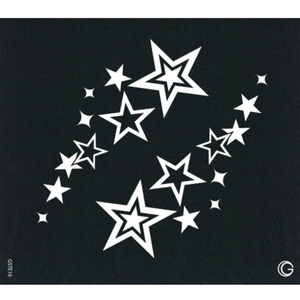 G Body Art - Essential Stencils - 2 Per Pack - Twin Stars ()