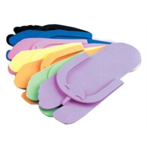 Notched Toe Foam Pedicure Slippers 12 Pair (11125)