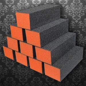 Dixon Buffer Block 3 Way - OrangeBlack - 100180 Grit Case of 500 Blocks ()