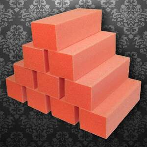 Dixon Buffer Block 3 Way - OrangeWhite - 100180 Grit Case of 500 Blocks ()