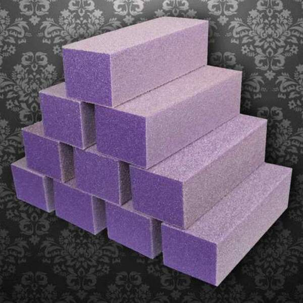 Dixon Buffer Block 3 Way - PurpleWhite - 100180 Grit Case of 500 Blocks ()