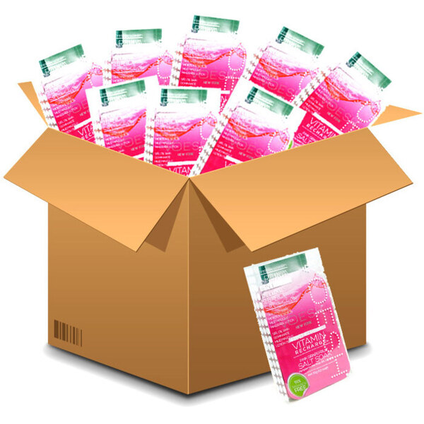 Voesh Deluxe Pedicure in a Box - 4-Step Hygienic Spa Pedicure Kit - Vitamin Recharge Case of 50 Treatment Sets by Voesh of New York ()
