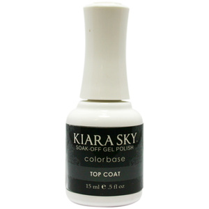 Kiara Sky Soak Off Gel Polish + Matching Lacquer - Top Coat (616914706003)