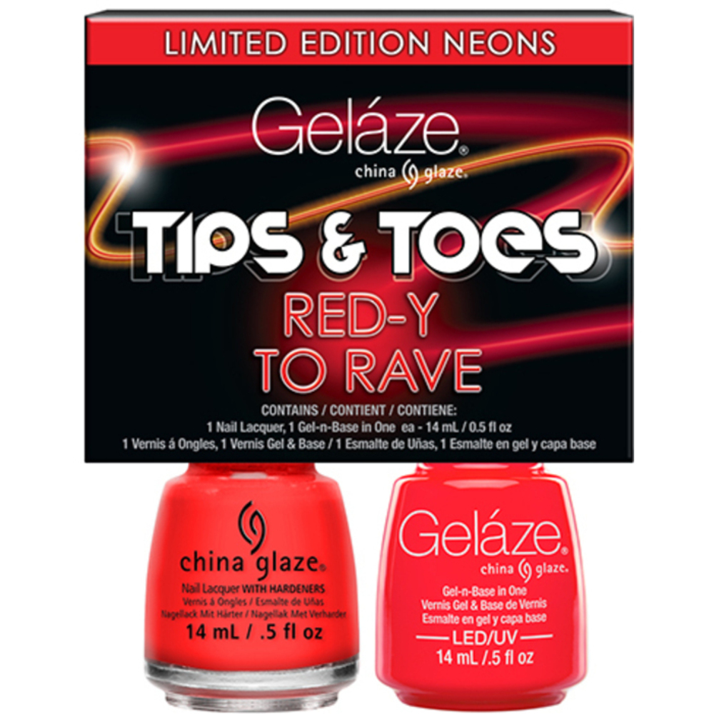 Gelaze - Gel & Matched Lacquer - Tips n\' Toes - Electric Nights ...
