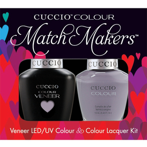 Cuccio Match Makers - Venice Beach Collection - Soul Surfer Kit - 1 Nail Lacquer + 1 Matching Veneer Soak Off LEDUV Nail Colour 0.43 oz. Each (#6144)