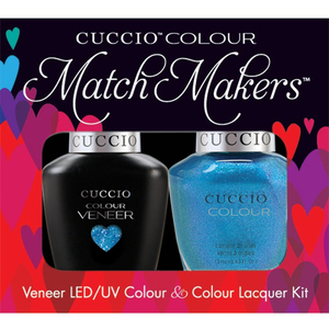 Cuccio Match Makers - Venice Beach Collection - Roller Skate! Kit - 1 Nail Lacquer + 1 Matching Veneer Soak Off LEDUV Nail Colour 0.43 oz. Each (#6147)