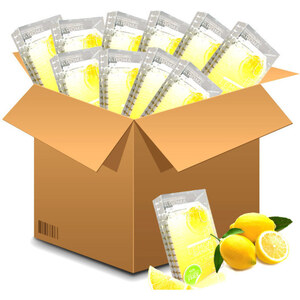 Voesh Deluxe Pedicure in a Box - 4-Step Hygienic Spa Pedicure Kit - Lemon Quench Case of 50 Treatment Sets by Voesh of New York ()