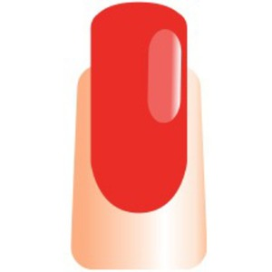 WaveGel Matching Soak Off Gel Polish & Nail Lacquer - Crimson Red 0.5 oz. Each (WG077)