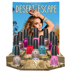 China Glaze Lacquer - Desert Escape Collection - 12 PIECE DISPLAY 2 of Each Color. (82659)