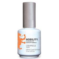 Nobility Color LEDUV Cured Gel Polish - Sweet Shoppe Collection- Creamsicle (Cream) 0.5 oz. (NBGP125)