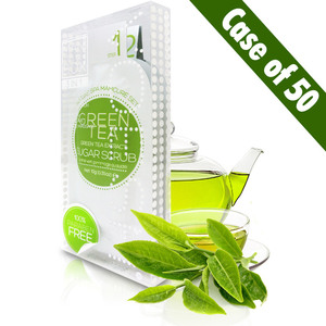 Voesh Waterless Manicure in a Box - 3-Step Hygienic Deluxe Manicure Kit - Green Tea Case of 50 Treatment Sets by Voesh of New York ()