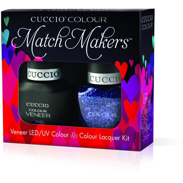 Cuccio Match Makers - Gala Kit - 1 Nail Lacquer + 1 Matching Veneer Soak Off LEDUV Nail Colour 0.43 oz. Each (#6133)