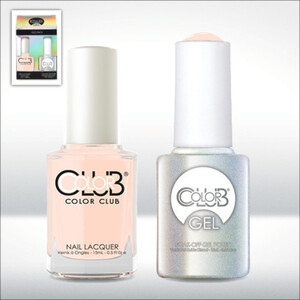 Color Club Gel Duo Pack - POETIC HUES - 1 Gel Lacuqer 0.5 oz + 1 Lacquer 0.5oz Matching Color (GEL1007)