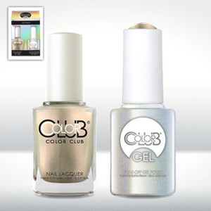 Color Club Gel Duo Pack - SUGAR RAYS - 1 Gel Lacuqer 0.5 oz + 1 Lacquer 0.5oz Matching Color (GEL1006)