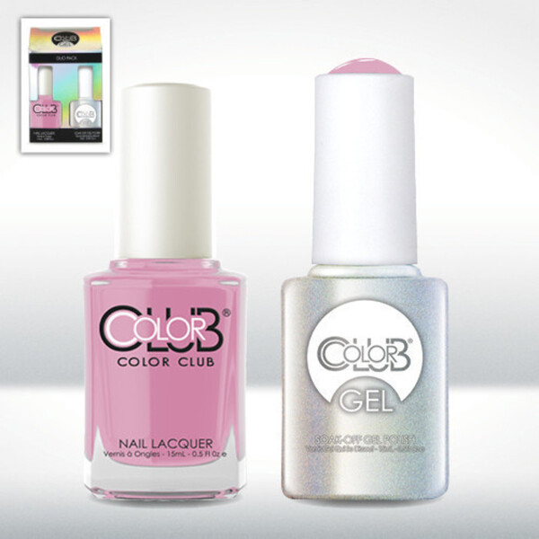Color Club Gel Duo Pack - WICKER PARK - 1 Gel Lacuqer 0.5 oz + 1 Lacquer 0.5oz Matching Color (GEL1004)