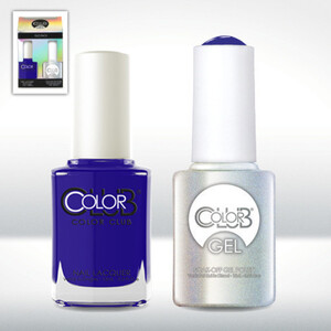 Color Club Gel Duo Pack - BRIGHT NIGHT - 1 Gel Lacuqer 0.5 oz + 1 Lacquer 0.5oz Matching Color (GEL993)