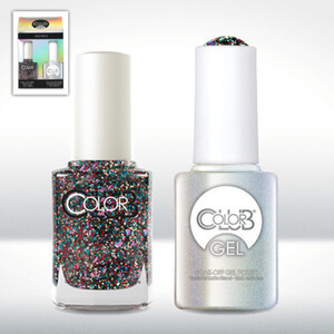 Color Club Gel Duo Pack - WISH UPON A ROCKSTAR - 1 Gel Lacuqer 0.5 oz + 1 Lacquer 0.5oz Matching Color (GEL946)