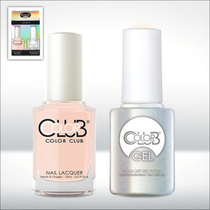 Color Club Gel Duo Pack - BONJOUR GIRL - 1 Gel Lacuqer 0.5 oz + 1 Lacquer 0.5oz Matching Color (GEL938)