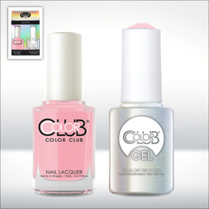 Color Club Gel Duo Pack - LITTLE MISS PARIS - 1 Gel Lacuqer 0.5 oz + 1 Lacquer 0.5oz Matching Color (GEL937)