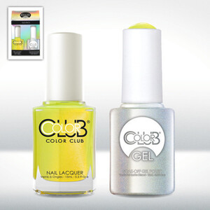 Color Club Gel Duo Pack - NOT-SO-MELLOW-YELLOW - 1 Gel Lacuqer 0.5 oz + 1 Lacquer 0.5oz Matching Color (GELAN27)