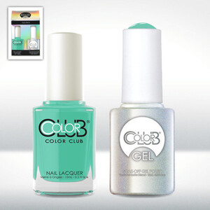 Color Club Gel Duo Pack - AGE OF AQUARIUS - 1 Gel Lacuqer 0.5 oz + 1 Lacquer 0.5oz Matching Color (GELAN04)