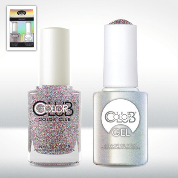 Color Club Gel Duo Pack - MAGIC ATTRACTION - 1 Gel Lacuqer 0.5 oz + 1 Lacquer 0.5oz Matching Color (GEL843)