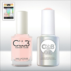 Color Club Gel Duo Pack - SECRET RONDEZVOUS - 1 Gel Lacuqer 0.5 oz + 1 Lacquer 0.5oz Matching Color (GEL906)