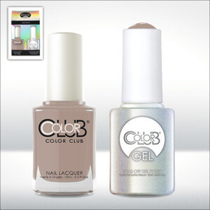 Color Club Gel Duo Pack - HIGH SOCIETY - 1 Gel Lacuqer 0.5 oz + 1 Lacquer 0.5oz Matching Color (GEL881)